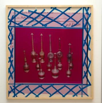 Alia Farid Détails de l'installation Between Dig and Display, 2017 Impression Photographie d'archive, Courtesy de l'artiste et Galerie Imane Farès